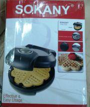 Вафельница сердечки Sokany 46457